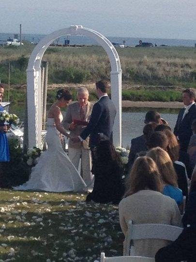 Beach side ceremony