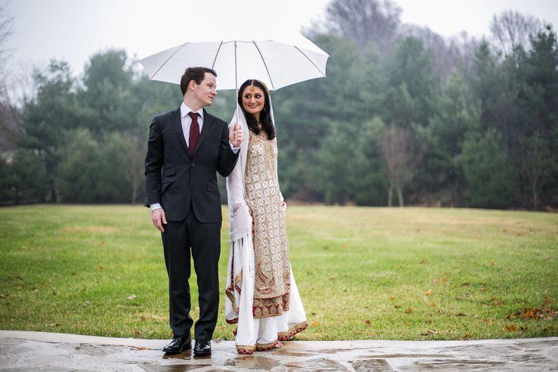 Rainy Nikah day portraits