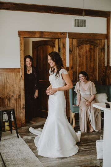Bride in our guest room