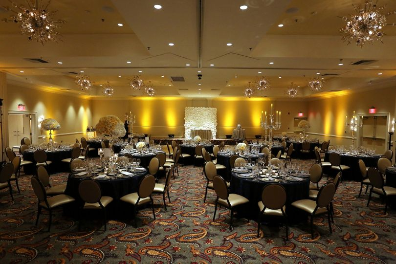 Navy and Gold Highlight the Classic Elegance of the Grand Ballroom