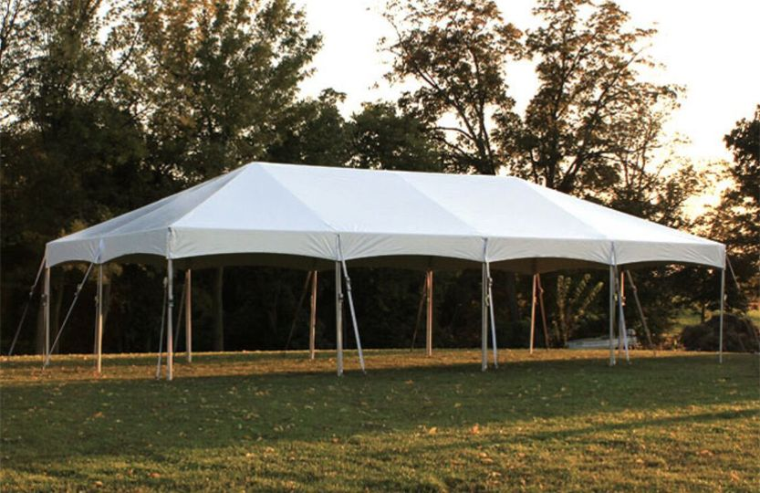 Open-sided pole tent