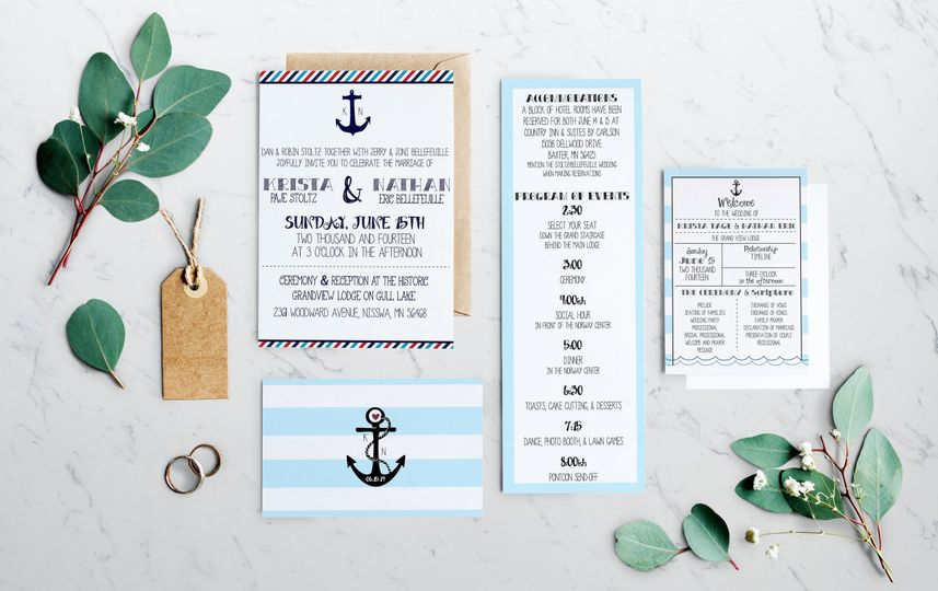 Krista's nautical wedding