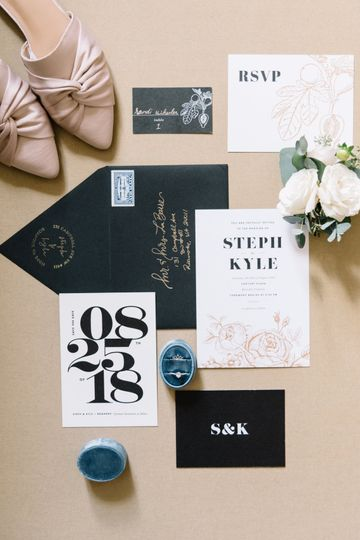 Invitation flatlay