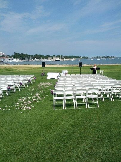 Ceremony at Wentworth Country Club in Rye, New Hampshire