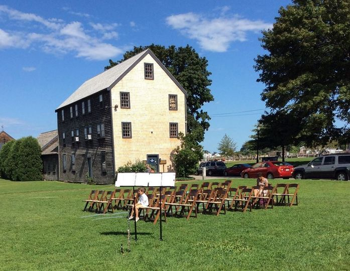 Ready for the vows at Prescott Park in Portsmouth, New Hampshire