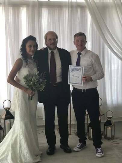 Steven with the newlyweds