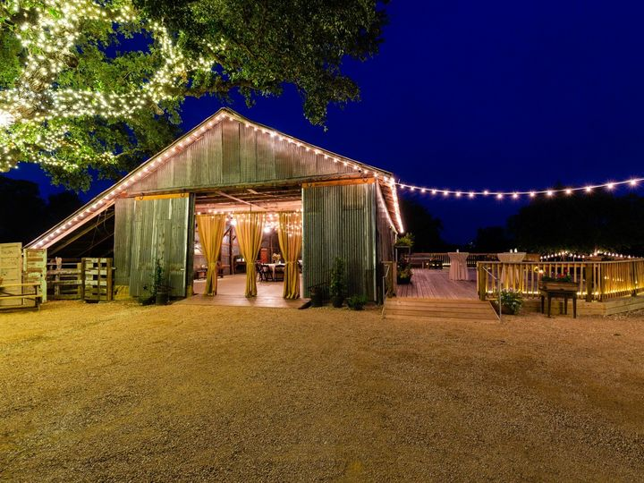 Tmx Barn Right From Deck Night 070319 51 1052821 1562208576 San Marcos, TX wedding venue