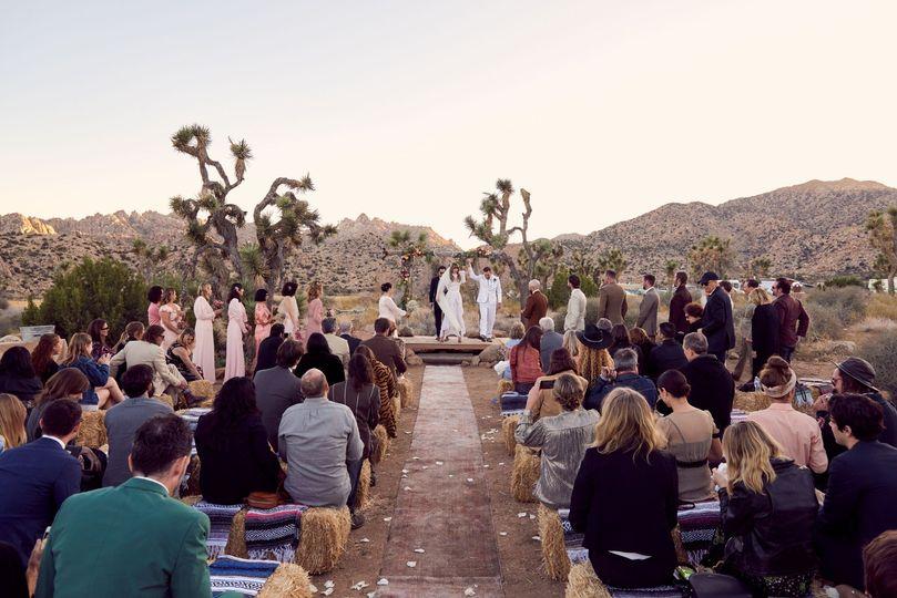 Chris & Ashley - Pioneertown - wedding ceremony