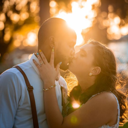 Sunset kisses