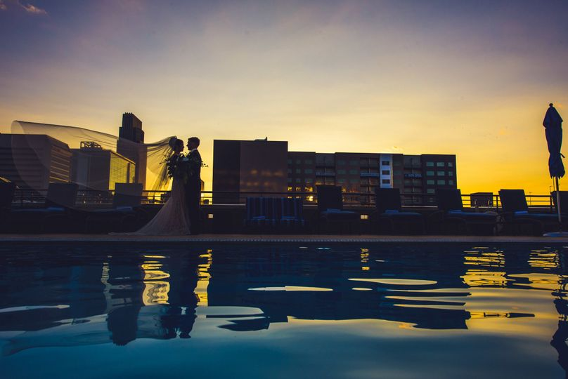 Couple at the rooftop