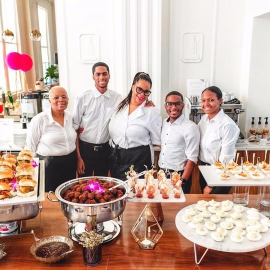 The catering team