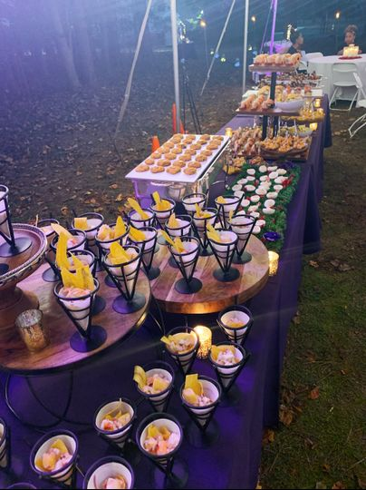 Heavy hors d'oeuvres reception