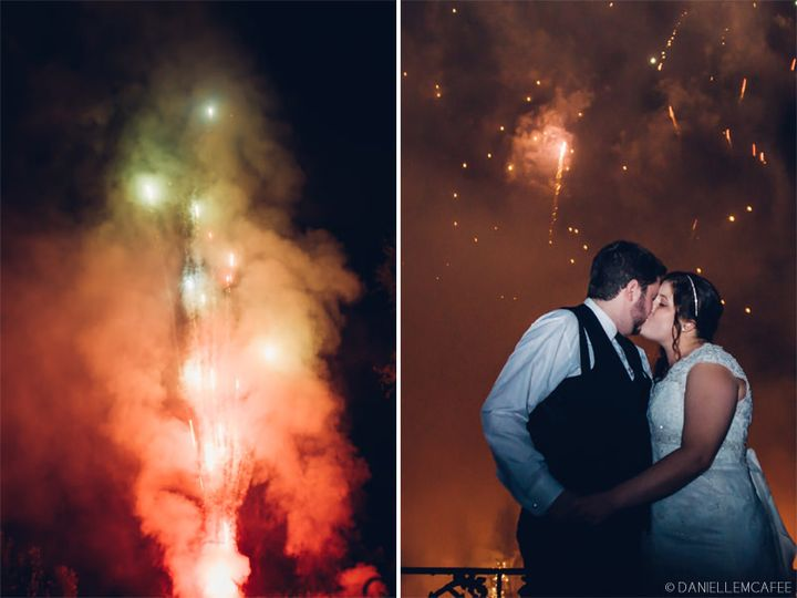 fireworks wedding photos alpine park and gardens c
