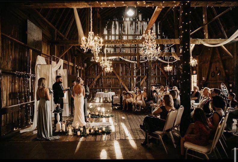 Barn indoor event space