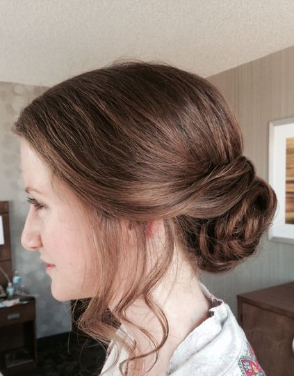 Charlottesville bride with low chignon