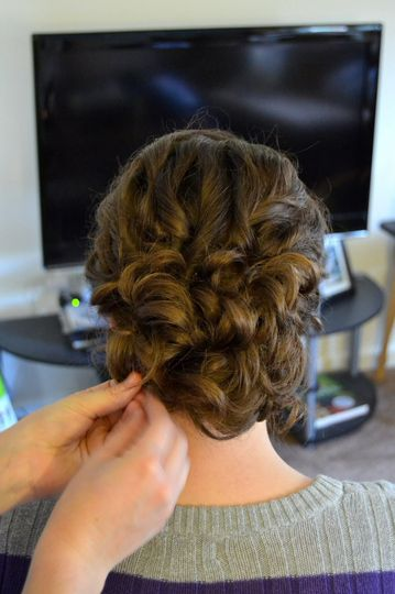 Braid and chignon
