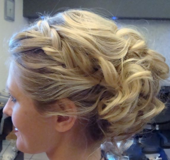 Braided unstructured wedding hair