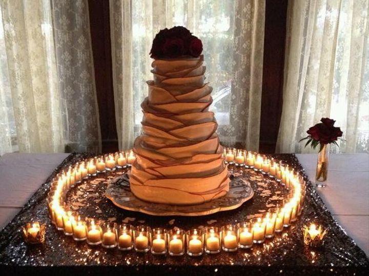 Tmx 1414089058508 Picture 07 Votives Around Cake Table Metairie wedding eventproduction