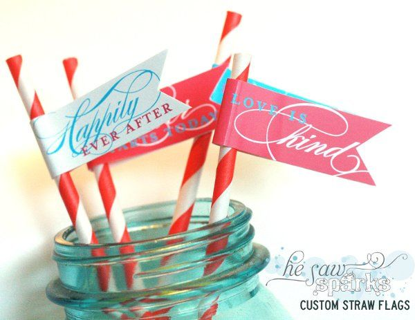 Custom Straw Toppers