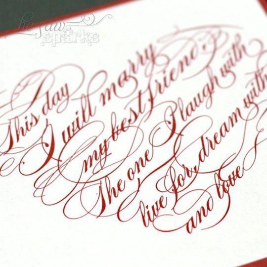 Heart Wedding Invitation - DIY printable