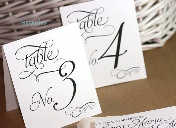 Printable Table Tents