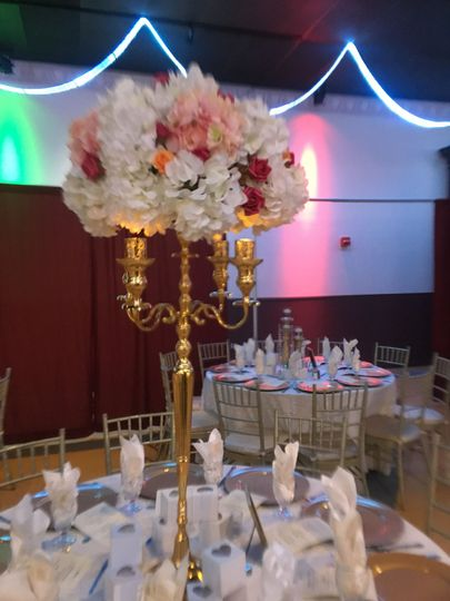 Silk or Fresh Centerpieces, Candelabras, and much more!