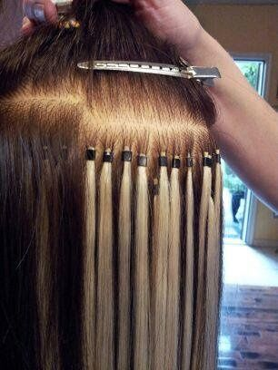 Dark blonde hair extension