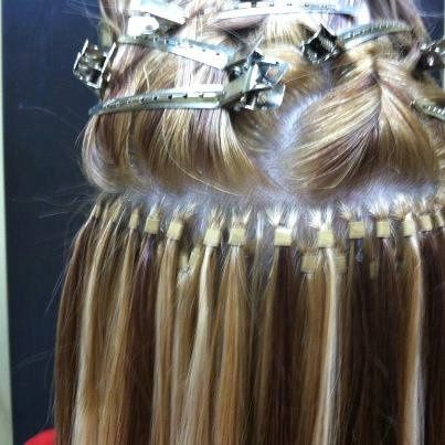 Light blonde hair extension