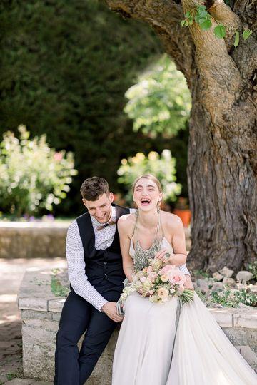 Happy couple Croatia wedding