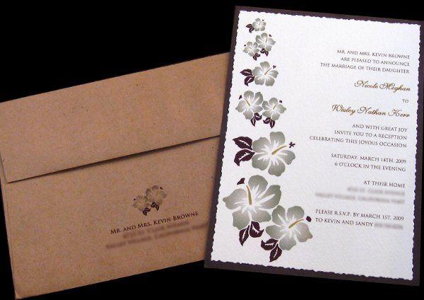 Tmx 1265274258867 INVITATIONWEDDINGBURLAPBOXHIBISCUS18 Los Angeles wedding invitation