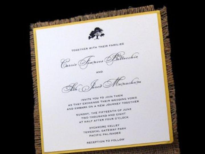 Tmx 1265274459617 INVITATIONWEDDINGBURLAPWRAPSQUARE13 Los Angeles wedding invitation