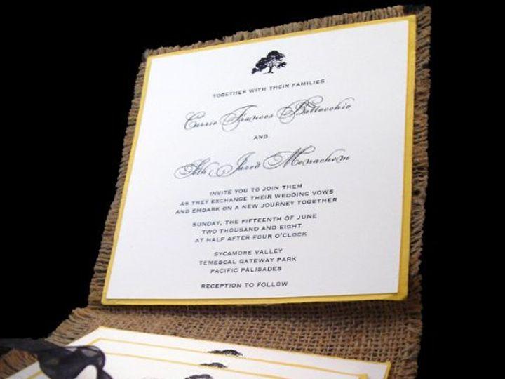 Tmx 1265274498414 INVITATIONWEDDINGBURLAPWRAPSQUARE15 Los Angeles wedding invitation
