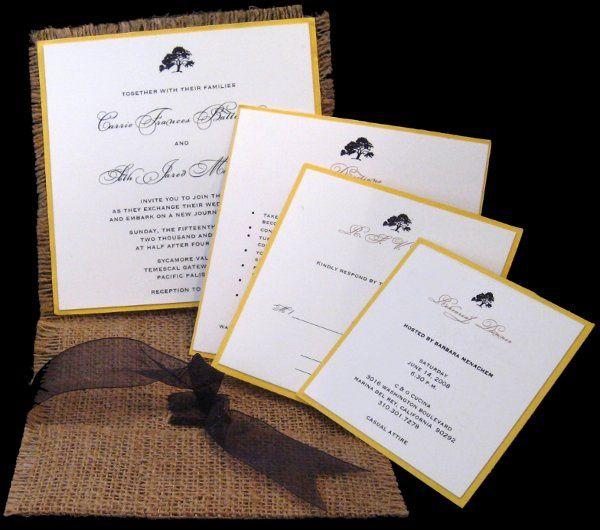 Tmx 1265274527023 INVITATIONWEDDINGBURLAPWRAPSQUARE17 Los Angeles wedding invitation