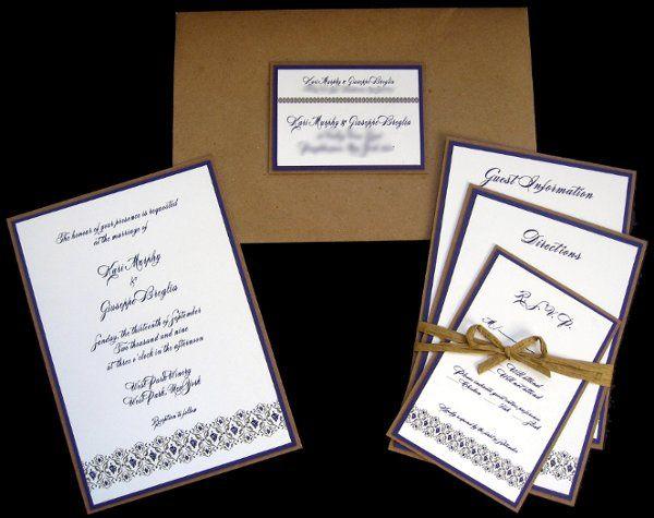 Tmx 1265274602336 INVITATIONWEDDINGGRAPEBORDEREXTRATHICKKRAFT1 Los Angeles wedding invitation