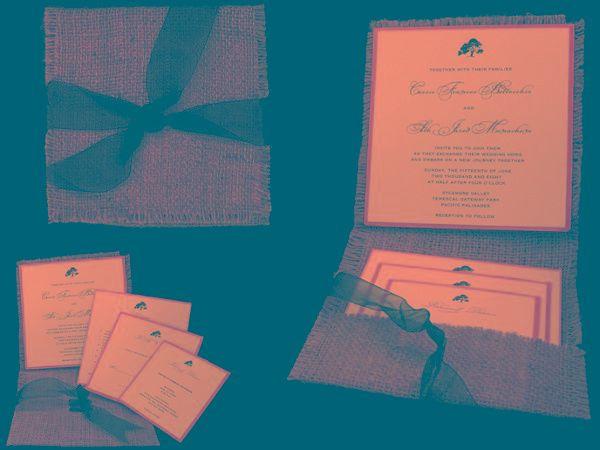 Tmx 1265274613945 INVITATIONWEDDINGBURLAPWRAPSQUARE19 Los Angeles wedding invitation