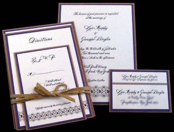 Tmx 1265274643539 INVITATIONWEDDINGGRAPEBORDEREXTRATHICKKRAFT10 Los Angeles wedding invitation