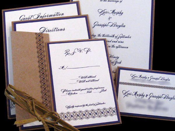 Tmx 1265274725648 INVITATIONWEDDINGGRAPEBORDEREXTRATHICKKRAFT14 Los Angeles wedding invitation
