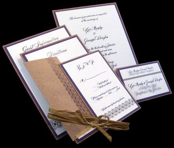 Tmx 1265274725695 INVITATIONWEDDINGGRAPEBORDEREXTRATHICKKRAFT2 Los Angeles wedding invitation