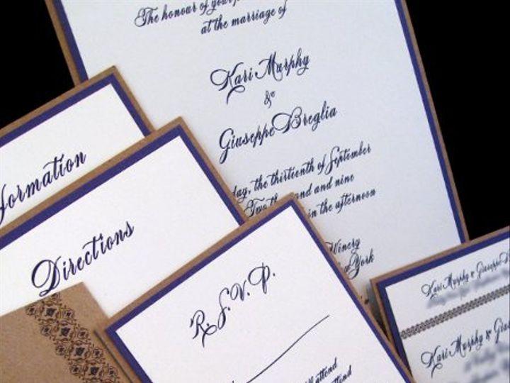 Tmx 1265274818445 INVITATIONWEDDINGGRAPEBORDEREXTRATHICKKRAFT6 Los Angeles wedding invitation