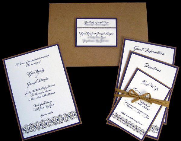 Tmx 1265274851539 INVITATIONWEDDINGGRAPEBORDEREXTRATHICKKRAFT9 Los Angeles wedding invitation