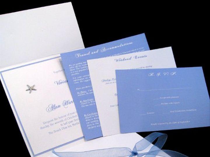 Tmx 1265274923351 INVITATIONWEDDINGHANDMADEPOCKETFOLDWRAPSEASHELL4 Los Angeles wedding invitation
