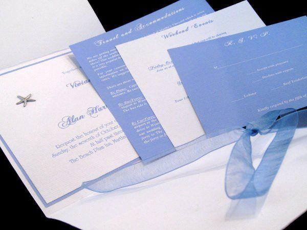Tmx 1265274962289 INVITATIONWEDDINGHANDMADEPOCKETFOLDWRAPSEASHELL5 Los Angeles wedding invitation