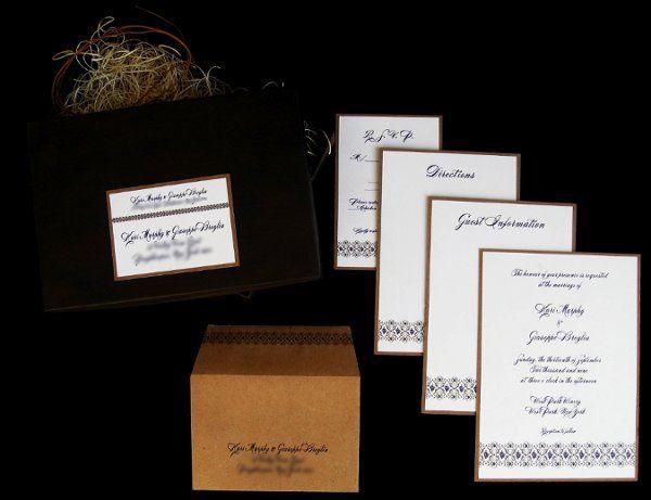 Tmx 1265275046695 INVITATIONWEDDINGKRAFTGRAPEBORDERBOX11 Los Angeles wedding invitation