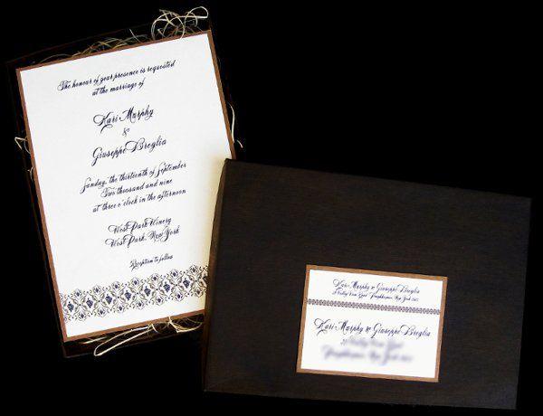 Tmx 1265275072617 INVITATIONWEDDINGKRAFTGRAPEBORDERBOX2 Los Angeles wedding invitation