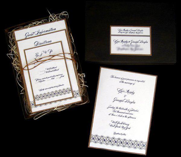 Tmx 1265275116367 INVITATIONWEDDINGKRAFTGRAPEBORDERBOX4 Los Angeles wedding invitation