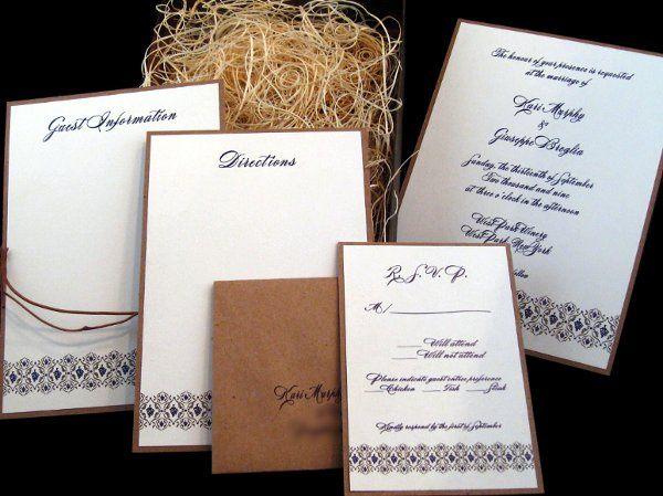 Tmx 1265275122289 INVITATIONWEDDINGKRAFTGRAPEBORDERBOX3 Los Angeles wedding invitation