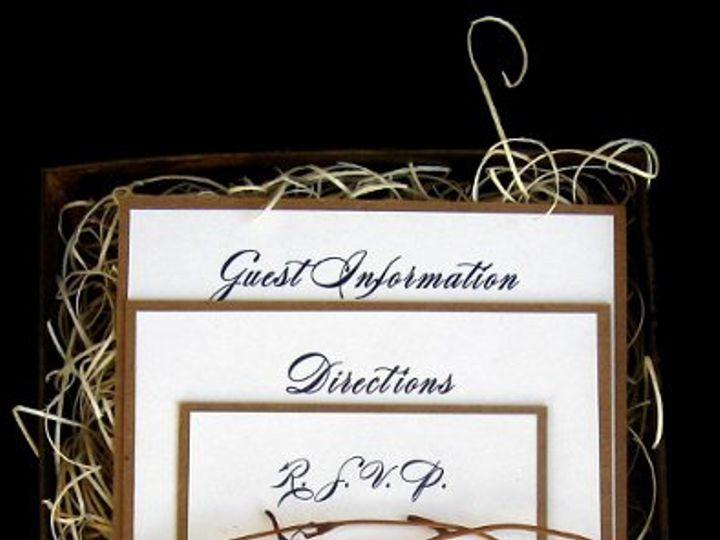 Tmx 1265275137586 INVITATIONWEDDINGKRAFTGRAPEBORDERBOX5 Los Angeles wedding invitation