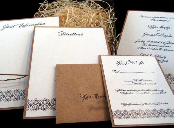 Tmx 1265275174086 INVITATIONWEDDINGKRAFTGRAPEBORDERBOX6 Los Angeles wedding invitation