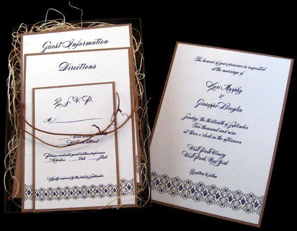 Tmx 1265275175773 INVITATIONWEDDINGKRAFTGRAPEBORDERBOX7 Los Angeles wedding invitation