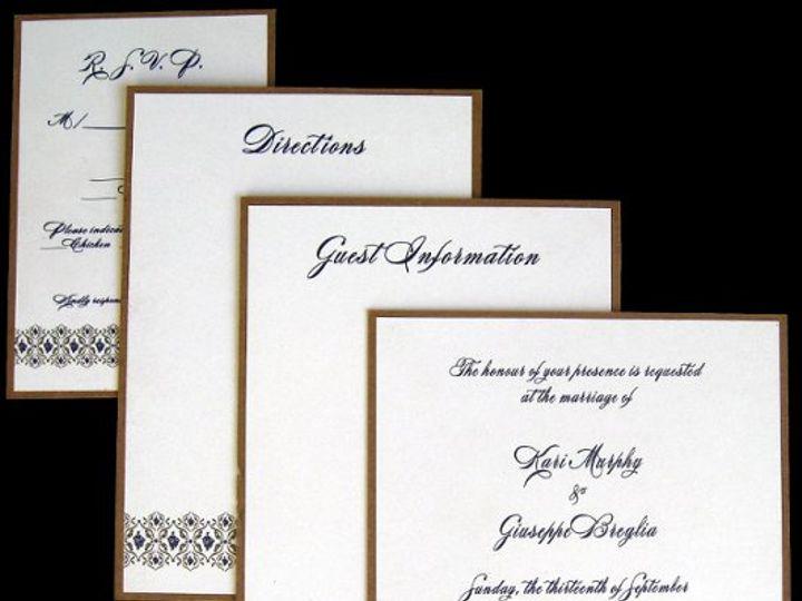 Tmx 1265275197929 INVITATIONWEDDINGKRAFTGRAPEBORDERBOX8 Los Angeles wedding invitation